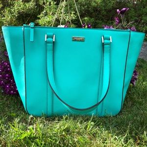 Kate Spade ♠️ Tote Turquoise/Tiffany Blue Color